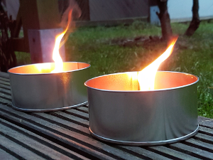 Outdoor Kerzen in Flammen